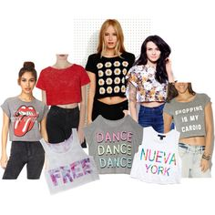 """""""Great Crop Tops!"""" by mozeemo on Polyvore"""
