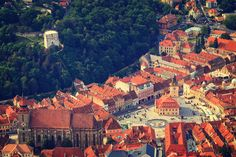 Aerial view of the Old Town, Brasov, Transylvania, Romania by dziewul on 500px