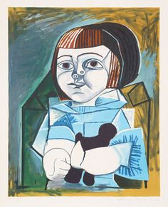 Pablo Picasso - Paloma en bleu, 1952.