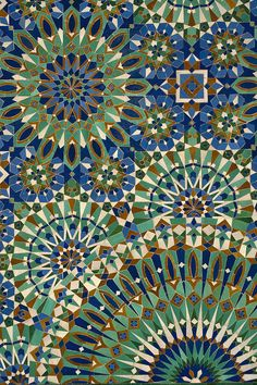 Amazing shapes and colour. Geometric design at its best. Moroccan tiles I love you. Casablanca, Morocco Photograph by Axiom Photographic Islamic Patterns, Tile Patterns, Pattern Art, Textures Patterns, Pattern Design, Moroccan Art, Moroccan Tiles, Moroccan Fabric, Moroccan Colors