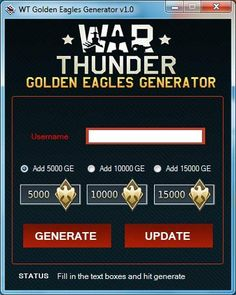 War thunder golden eagles hack tool cheats no survey or password for free download. Get unlimited gold, coins, gems by using War thunder hack for android...