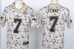 Nike Denver Broncos #7 John Elway 2013 USMC Camo Elite Jersey