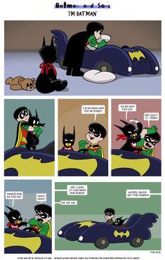 I'm Batman by The-BlackCat.deviantart.com on @DeviantArt.  So cute!  XD