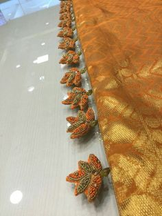 Saree Tassels Designs, Saree Kuchu Designs, Bridal Blouse Designs, Plain Saree, South Indian Weddings, Fashion Design Drawings, Half Saree, Fabric Jewelry, Siri