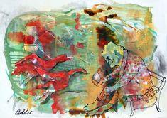 """Mixed media / Techniques mixtes - 22"""" x 30"""" / 56 x 76 cm Paper, Painting, Art, Painting Art, Paintings, Kunst, Paint, Draw, Art Education"""