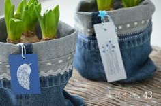 so cute - upcycling jeans utensilo