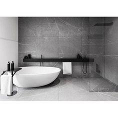 Minimal bathroom inspiration // Loving this simple design by Tamizo Architects by mancinimade Modern Small Bathrooms, Modern Bathroom Decor, Dream Bathrooms, Amazing Bathrooms, Modern Apartment Design, Modern Bedroom Design, Home Interior Design, Bathroom With Shower And Bath, Wet Room Bathroom