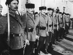 Russian Cossacks at service with German Army as Russian Liberation Army (POA)