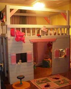 little girls bed set and house so cute; a little early for Charlie yet but love the idea
