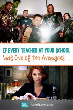 If Every Teacher at Your School Was One of the Avengers . What do the Avengers have in common with teachers? A lot more than you might think at first! Take a look at the Avengers as teachers. Teacher Comics, Teacher Memes, School Teacher, Teacher Stuff, Teaching Humor, Teaching Profession, Teaching Ideas, Teacher Problems, Teacher Boards