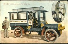 Postcard of the Milwaukee Mail Car by Smithsonian Institution, via Flickr