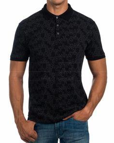 Polos Armani Jeans Negro & gris