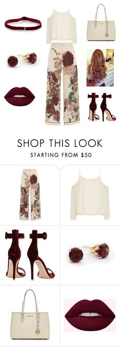 """Untitled #48"" by maya2005 ❤ liked on Polyvore featuring Valentino, Elizabeth and James, Gianvito Rossi and MICHAEL Michael Kors"