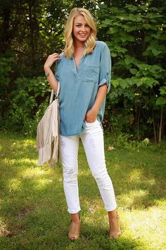 Beauty & Bliss Chambray Tunic