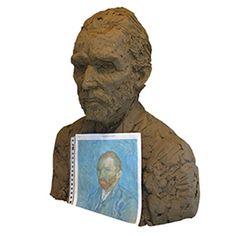 Selfportrait Vincent van Gogh 1891 by Sculpturist Ien Sluyters  http://www.iensluyters.nl/blog/