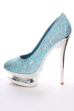 BLUE Lace Glitter Stacked Platform Heels @ Amiclubwear Heel Shoes online store sales:Stiletto Heel Shoes,High Heel Pumps,Womens High Heel Shoes,Prom Shoes,Summer Shoes,Spring Shoes,Spool Heel,Womens Dress Shoes,Prom Heels,Prom Pumps,High Heel Sandals,Chea