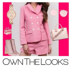 """""""Maram Zbaeda -Pink Tweed Blazer And Short Set"""" by ownthelooks on Polyvore featuring Laurence Dacade and LMNT"""