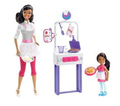 Barbie I Can Be Pancake Chef African-American Doll Playset...