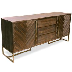 The stylishly robust Roma Buffet are what mid-century dreams are made of, with a touch of industrial flair for a statement-making design. Dining Room Buffet, Dining Table Chairs, Dining Room Furniture, Buffet Cabinet, Sideboard Buffet, Credenza, Fancy Wine Glasses, Sideboards For Sale, Affordable Furniture