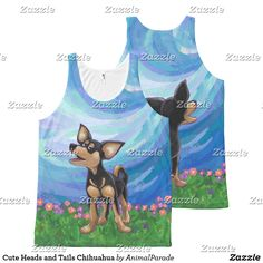 Cute Heads and Tails Chihuahua All-Over-Print Tank Top by Animal Parade