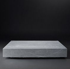 Low Marble Plinth Tables & Trunks Collection- Grey (MODCASE15) | RH Modern