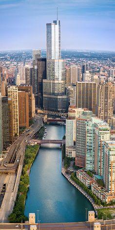Chicago River Sunrise ~ by Steve Gadomski