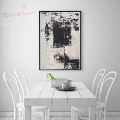 [RT:G]艺术微喷装饰画现代简约抽象黑白油画客厅书房卧室玄关挂画-淘宝网