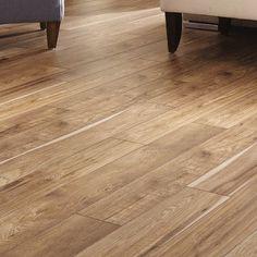Mannington Restoration 6'' x 51'' x 12mm Hickory Laminate Flooring in Natural
