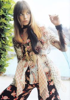 A luminous 70′s era Jane Birkin in designs from Ossie Clark, another great source of inspiration, has us ready for falldressing.