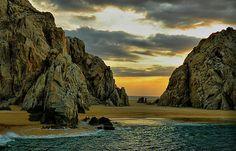 A shot of Lover's Beach in Cabo San Lucas, Mexico - HDR version Panama Cruise, Desert Days, Ancient Ruins, Cabo San Lucas, Honeymoon Destinations, Central America, Beautiful Beaches, Mexico, Adventure