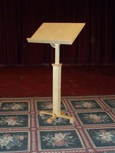 Simple Wooden Music Stand