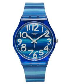Swatch Watch, Unisex Swiss Linajola Multi-Color Plastic Strap 34mm GN237