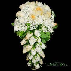 Ramo de Novia Floristeria_ elde_flor RosasBlancas  y Champang