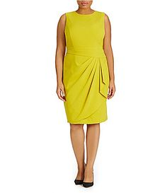 Calvin Klein Plus Sleeveless SideRuched Dress #Dillards