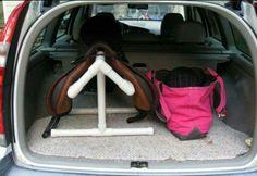 Small saddle rack.