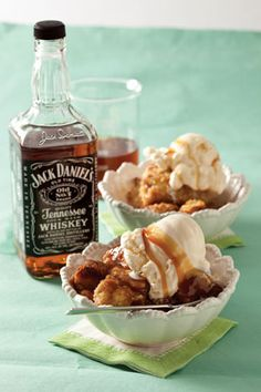Donut Bread Pudding with Tennessee Whiskey Sauce