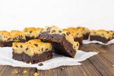 Brookies: Chocolate Chip Cookie Brownies {vegan}
