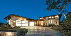 Eplans Prairie House Plan - Hill Country Neo-Prairie Style C-Shaped Home - 4237 Square Feet and 4 Bedrooms from Eplans - House Plan Code HWEPL75737