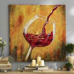 Abstract Tree Painting, Wine Painting, Summer Painting, Artist Painting, Florence Art, Acrylic Painting For Beginners, Wine Art, Types Of Art, Art Oil
