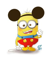 Mickey Ears Despicable Me Minion Art template ♡ Disney ♡ Walt Disney, Disney Love, Disney Magic, Disney Mickey, Minion Rock, Minions Love, Minions Despicable Me, Minions Pics, Minions Quotes