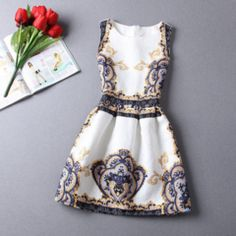 Casual Round Neck Floral Print Mini Dress - Daisy Dress For Less - 12