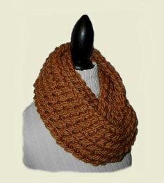 SUPER CHUNKY Infinity Scarf Cowl Knit Soft by 2SistersHandmade