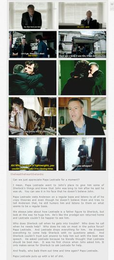 Appreciation for Papa Lestrade. #Sherlock