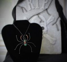 Halloween Goth Spider Necklace Handmade **Sale Use Coupon Code Halloween30 To Receive 30% Off On This Item At Checkout**