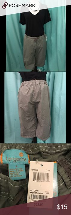 Tangerine capris/Bermuda shorts Gray capris/bermuda shorts. NEW, WITH TAGS. (Necklace & shirt not included) tangerine Pants Capris