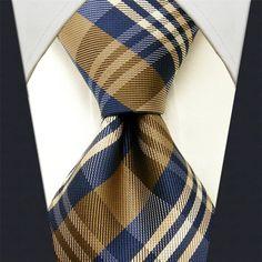 Yellow / Blue Tartan Necktie