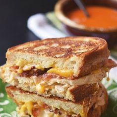 Repinned: Chicken Bacon Ranch Grilled Cheese