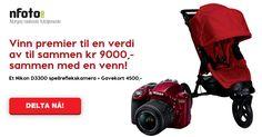 Delta med din venns link og vær med i trekningen av et Nikon D3300 + et gavekort på kr 4500!