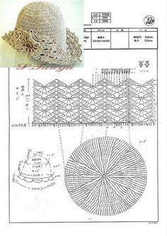 Chapéu de crochê     ? ? ... #inspiration #crochet  #knit #diy GB  http://www.pinterest.com/gigibrazil/boards/