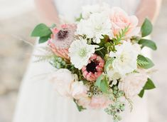 Bohemian Beach Wedding InspirationPretty obsessed with her bouquet designed by Twig & Twine!